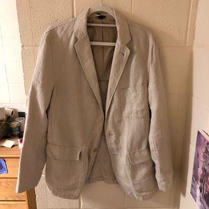 J CREW Men's 100% Linen Suit Jacket